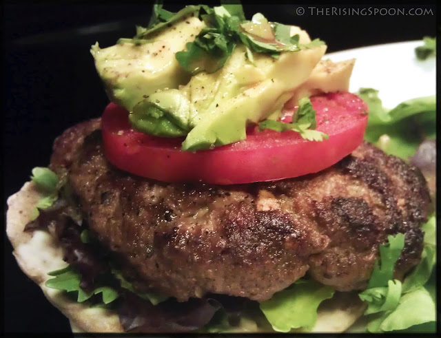 Pan-Fried Hatch Green Chile Burgers | www.therisingspoon.com
