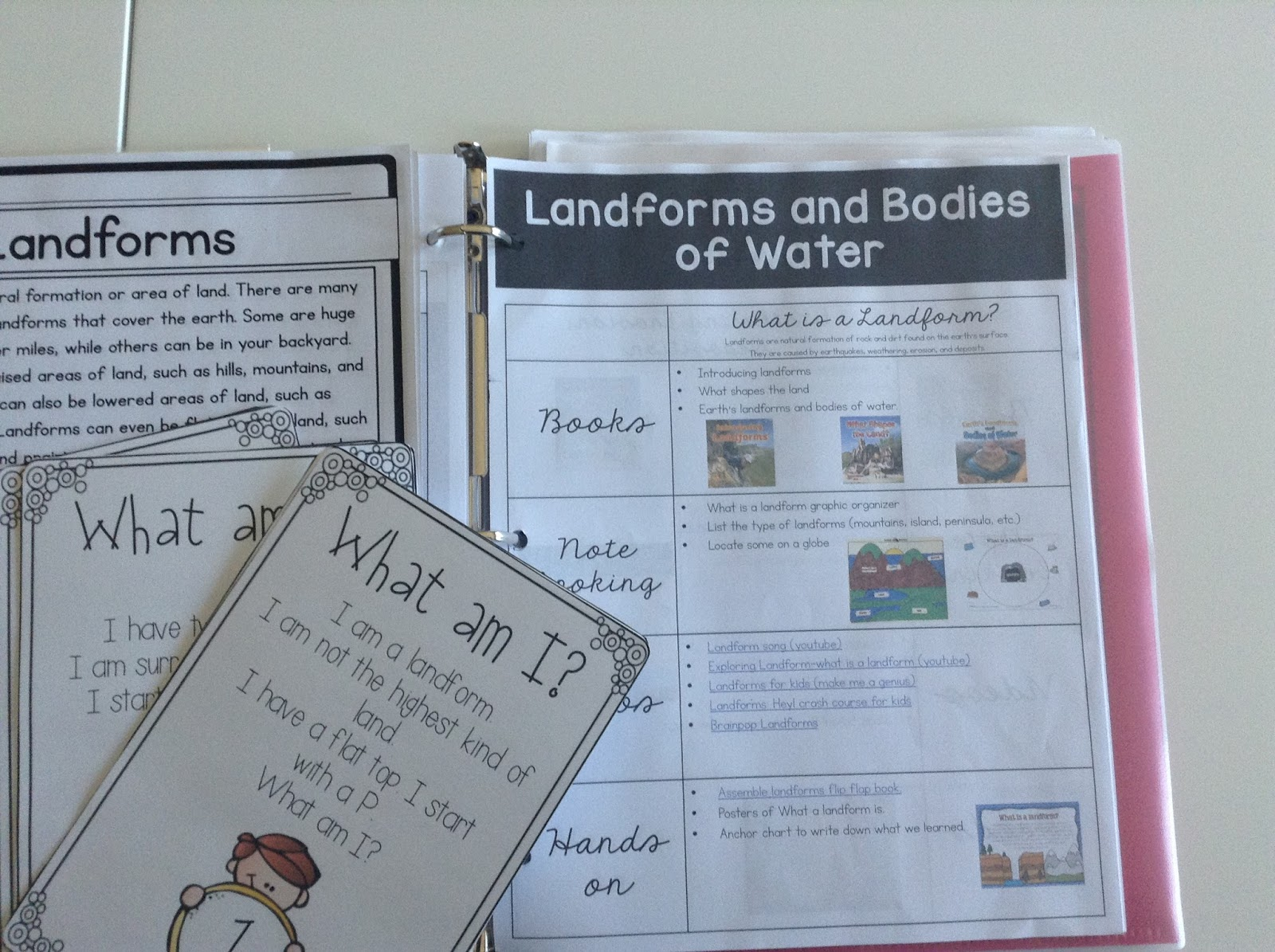 Workbooks landform matching worksheets : TeacherMomPlus3: Landforms and Bodies of Water Unit Study