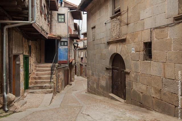 Pueblo pintoresco Salamanca Castilla Leon Miranda Castañar