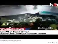 VIDEO Detik-Detik Personel Band Seventeen Tersapu Tsunami Saat Manggung di Banten
