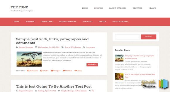 The Funk Blogger Template