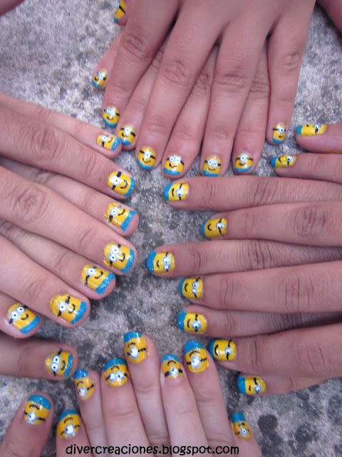 Minions nails [Despicable me]