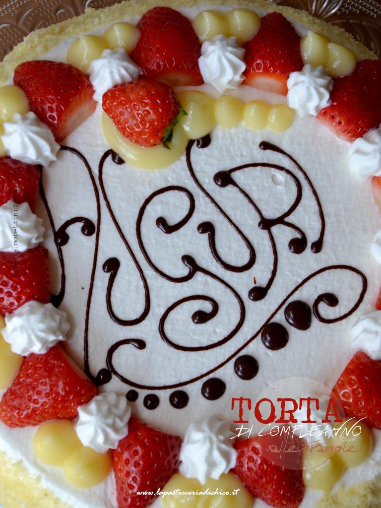La pasticceria di chico torta di compleanno alle fragole for Decorazioni torte con fragole e cioccolato