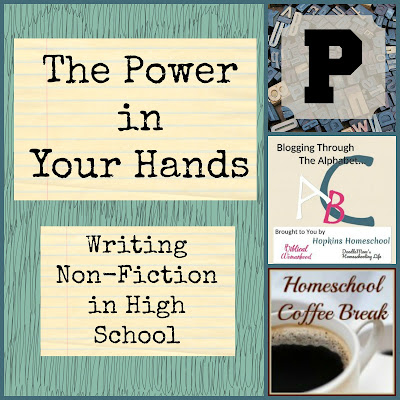 The Power in Your Hands (Blogging Through the Alphabet) on Homeschool Coffee Break @ kympossibleblog.blogspot.com