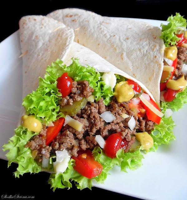 Tortilla z Mięsem Wołowym (Tortilla a'la Hamburger) - Przepis - Słodka Strona