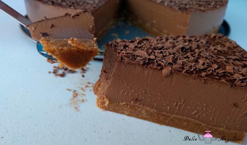 Deliciosa Tarta de queso, chocolate y café