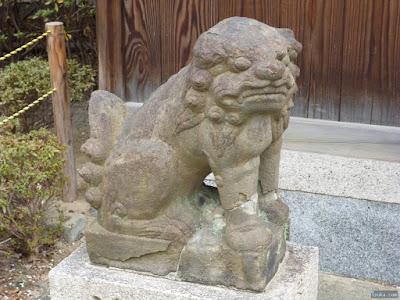 天神社宮比事平神社狛犬