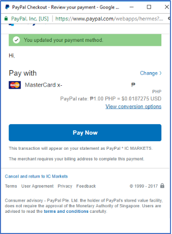 Forex boroker support paypal