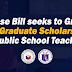 Scholarship Grants to Public School Teachers