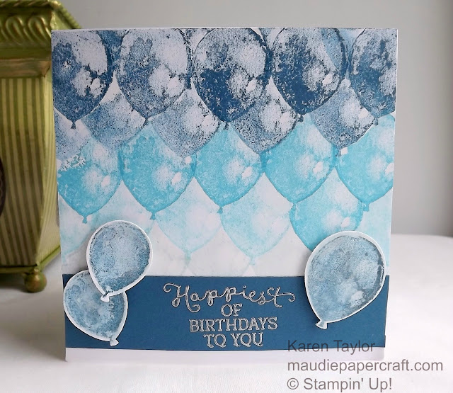 Stampin' Up! Balloon Builders card