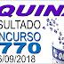 Resultado da Quina concurso 4770 (06/09/2018) ACUMULOU!!!