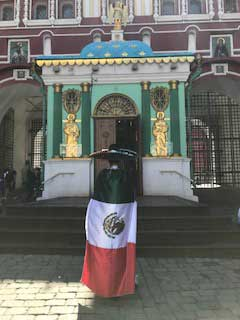 Mexico fan praying for success