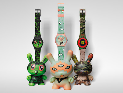 Kidrobot for Swatch Watch and Dunny 2 Packs - Jeremyville, Tara McPherson & SSur Sets