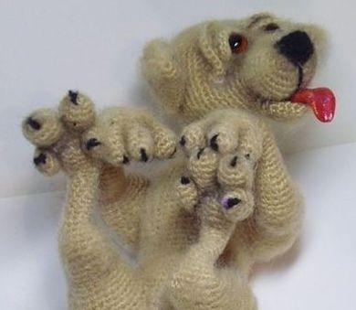 Вязаный щенок. Мастер-класс Наталии Загребиной