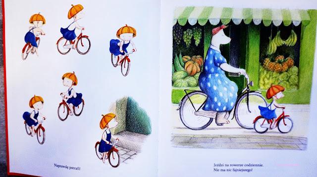 mela na rowerze