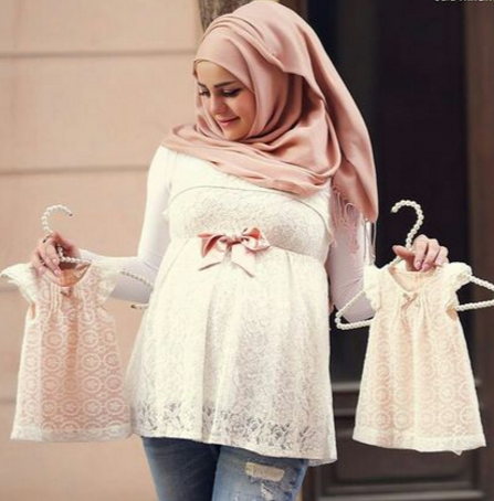 15 Contoh Model Busana Muslim Untuk Ibu Hamil Terbaru