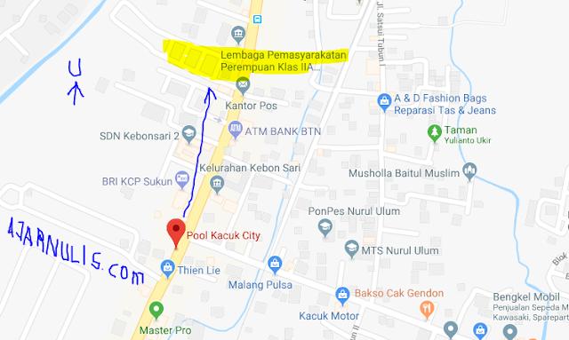 Titik Jemput Ojek Online Gojek-Grab di Pertigaan Kacuk Malang