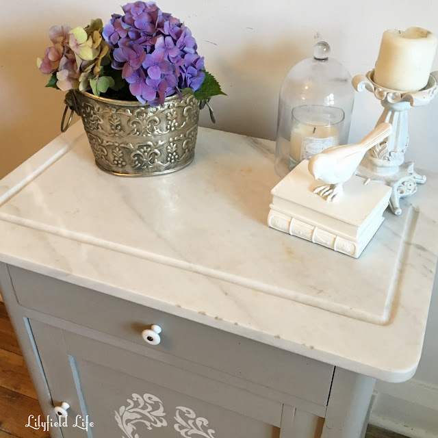 Lilyfield Life lamp bedside table marble