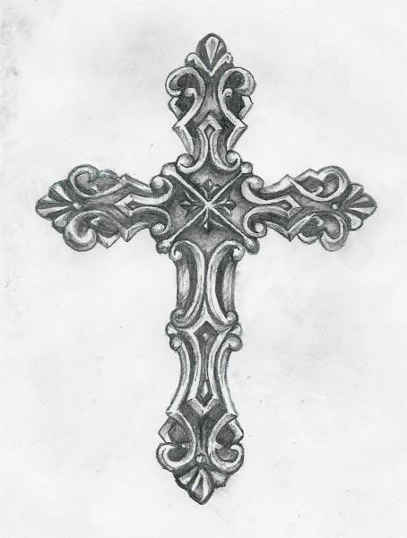 tribal cross tattoos cross tattoos designs 1510