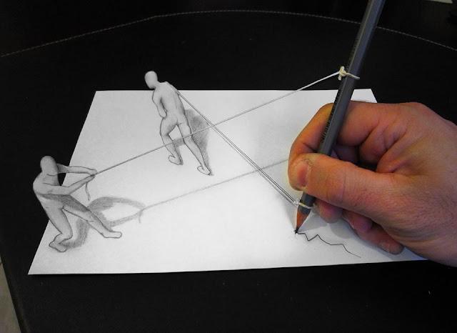 ilusi gambar 3 dimensi yang keren dan menakjubkan serta kreatif-36