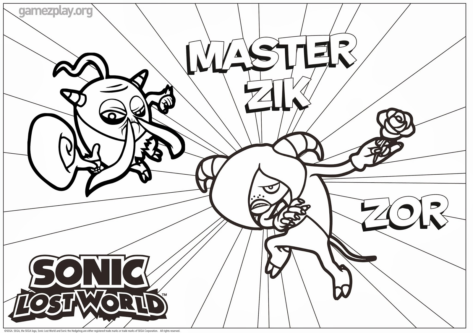 Sonic Lost World Coloring Pages Sketch Coloring Page