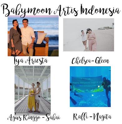 babymoon artis indonesia, tya riesta, raffi ahmad, agus ringgo, gleen alinski