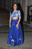 Regina Casandra in Stunning White Embroidery Crop Top Choli and Blue Ghagra at Santosham awards 2017 curtain raiser press meet 02.08.2017 012.JPG