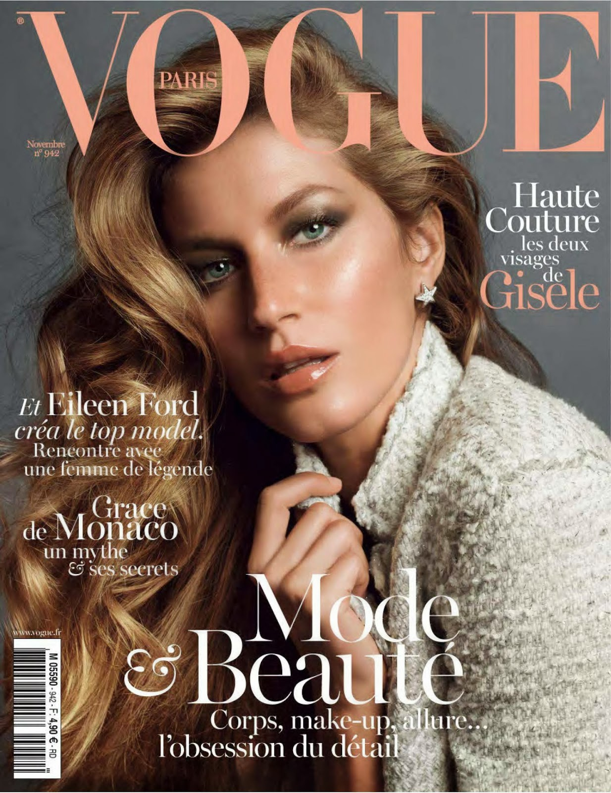 Vogue Magazine Subscription: Gisele Bundchen Vogue Paris Nov 2013 Magazine Hot Photos