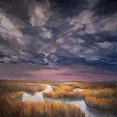 The Great Marsh, atmospheric, stormy