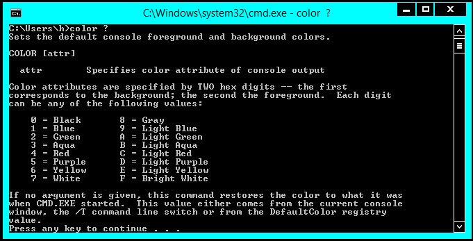 How to change CMD(command prompt) 's COLOR    ~ Last Techkers