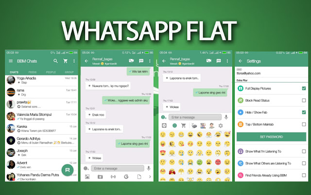 BBM2 Mod WhatsApp Flat v13 Apk Terbaru Versi 2.13.1.14 Klone