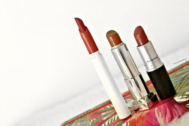 Cream lipsticks, colourpop bound, MAC Syrup