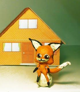 волшебный зверёк квами - лисичка Трикси из пластилина