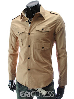 Multi-Pocket Men's Casual Shirt