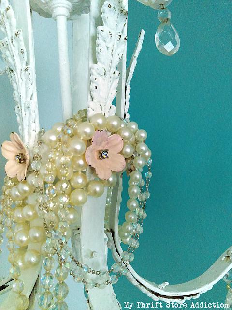 chandelier upcycle