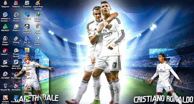 tema Real Madrid keren terbaru 2016 untuk windows 7,windows 8 Windows 8.1 dan Windows 10