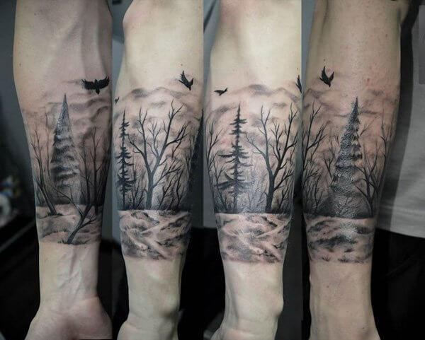 Los Mejores 20 Tatuajes Inspirados En Bosques Muy Hobby
