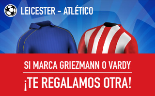 sportium promocion champions Leicester vs Atletico 18 abril