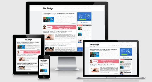 Pro Design - Responsive and SEO Friendly Blogger Template