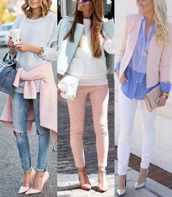 Pantone - Cores de 2016 moda : Rosa quartzo e  azul da serenidade