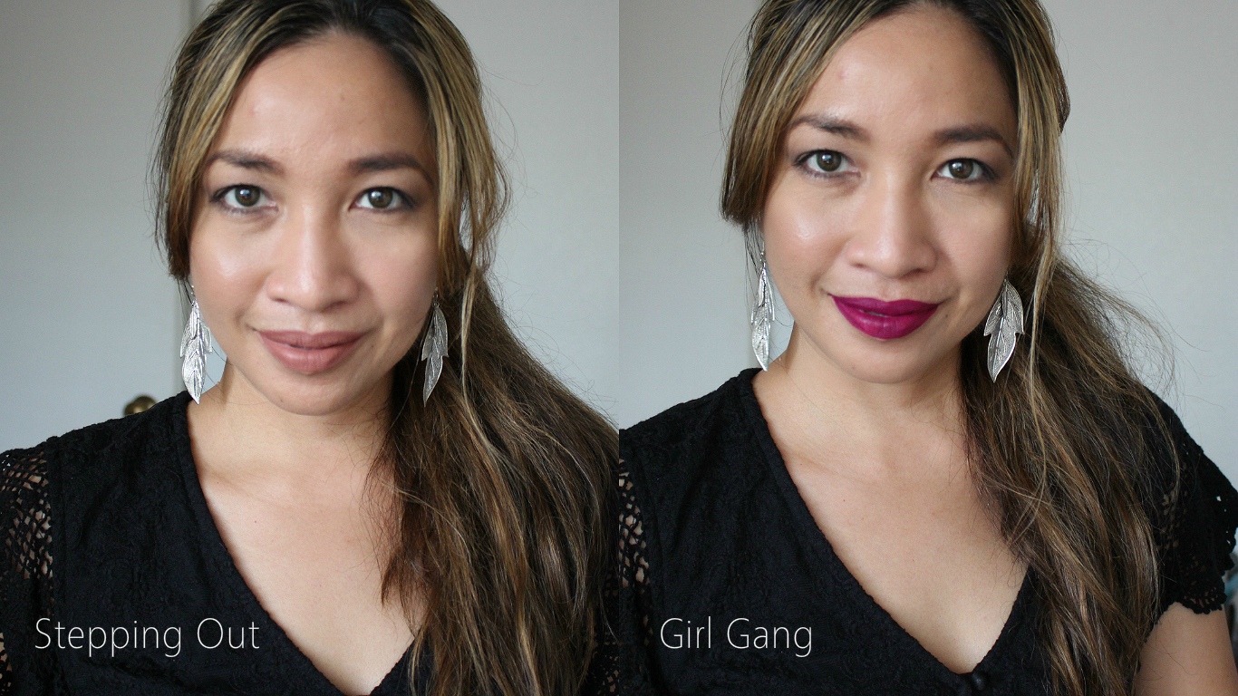 Smashbox Always On Matte Liquid Lipstick, Stepping Out, Girl Gang Swatch Review