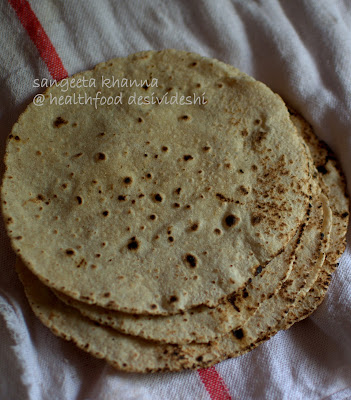 chapati with soybean