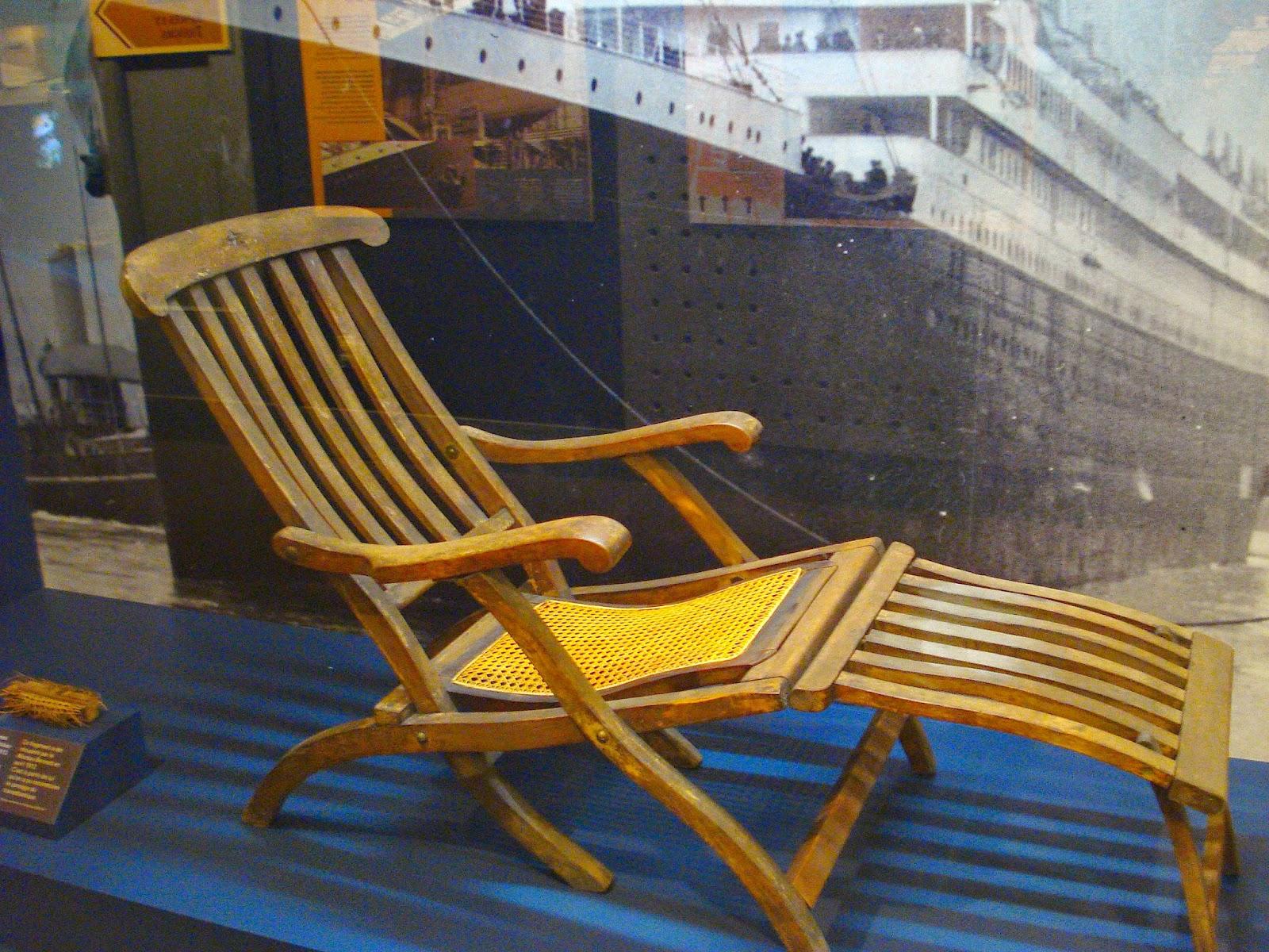 World Of The Written Word Titanic Deck Chair
