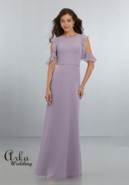 53c84bdb2414 ΝΥΦΙΚΑ ARKAWEDDING  Σοφιστικέ Βραδινό Φόρεμα