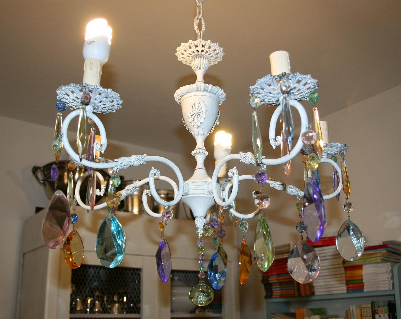 Lampadario Di Carta Velina : Fatto da me tutorial: trasformare un vecchio lampadario con le