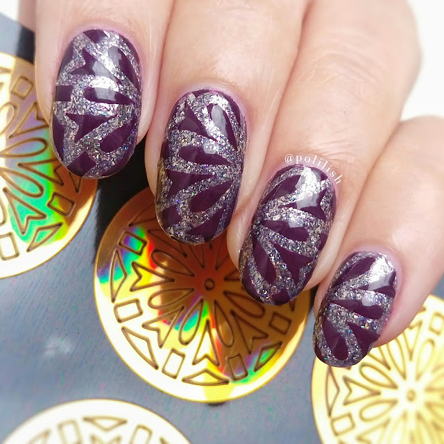 Nail art with Born Pretty Store nail vinyls | polilish