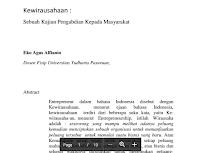 Contoh Jurnal Pengabdian Kepada Masyarakat Pdf Download : Keyword : Pengusaha, Wiraswasta, Bisnis