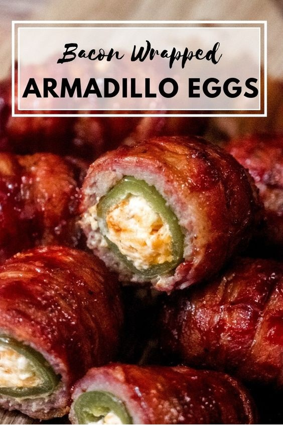 Bacon Wrapped Armadillo Eggs