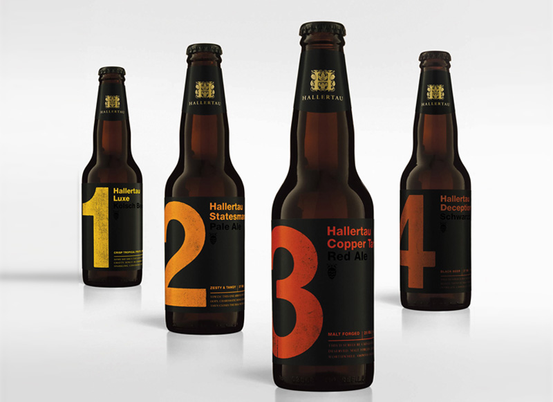 Hallertau Luxe Vineet Kaur beer packaging