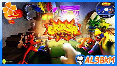 لعبة crash tag team racing psp بصيغة iso